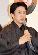 歌舞伎座11月公演『吉例顔見世大歌舞伎』記者会見に出席した市川染五郎