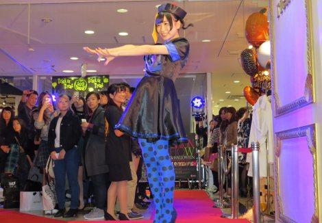 SHIBUYA109 NIGHTでハロウィンコスプレショーに登場したでんぱ組.incの藤咲彩音 (C)ORICON NewS inc.