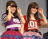 (左から)AKB48の渡辺麻友、向井地美音 (C)ORICON NewS inc.