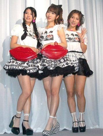 初の単独ライブを行ったフレンチ・キス(左から)倉持明日香、柏木由紀、高城亜樹 (C)ORICON NewS inc.