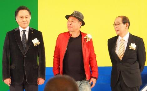 『東京ドラマアウォード2014』特別賞を受賞した『三匹のおっさん』キャスト(左から)北大路欣也、泉谷しげる、志賀廣太郎 (C)ORICON NewS inc.
