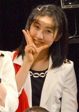 57thシングル「TIKI BUN/シャバダバ ドゥ/見返り美人」リリースイベントを行ったモーニング娘。'14・佐藤優樹 (C)ORICON NewS inc.