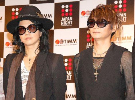音楽イベント『JAPAN NIGHT in TIMM』記者会見に出席したVAMPS(左から)HYDE、K.A.Z (C)ORICON NewS inc.