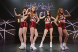 4人体制で初の日本ツアーをスタートさせたKARA(左からヨンジ、ギュリ、ハラ、スンヨン)