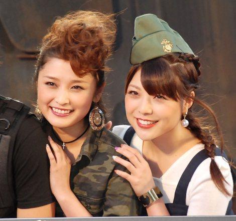 映画『エクスペンダブルズ3』PRイベントに出席した(左から)石川梨華、小川麻琴 (C)ORICON NewS inc.