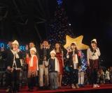 雨の中行われた『東京スカイツリータウン ドリームクリスマス2014』のライティングセレモニー (C)ORICON NewS inc.