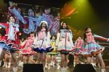 SKE48がニューシングル「12月のカンガルー」を初披露(前列左から松井珠理奈、北川綾巴、宮前杏実、松井玲奈)(C)AKS
