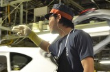 マツダ本社工場、第1車両製造部のリリーフ・松田秀晃さん 「ありがとう」の言葉はお決まりのポーズとともに伝える (C)oricon ME inc.