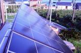 『マグネシウム燃料電池ハウス』に設置されている太陽光発電パネル