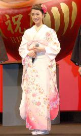 キュートな着物姿を披露した優希美青=映画『神さまの言うとおり』ジャパンプレミア (C)ORICON NewS inc.