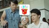 フリマアプリ『メルカリ』新CMカット(写真左から:スギちゃんに扮したダンディ坂野、菅谷哲也)