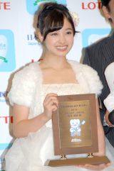 『ベストスマイル・オブ・ザ・イヤー2014』授賞式に出席した橋本環奈 (C)ORICON NewS inc.