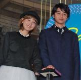 映画『アオハライド』イルミネーション点灯式に出席した(左から)本田翼、東出昌大 (C)ORICON NewS inc.
