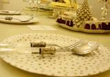 真っ白なセレブ風クリスマス女子会に潜入  かわいいお皿も実は紙の皿なので片付けは簡単(C)oricon ME inc.