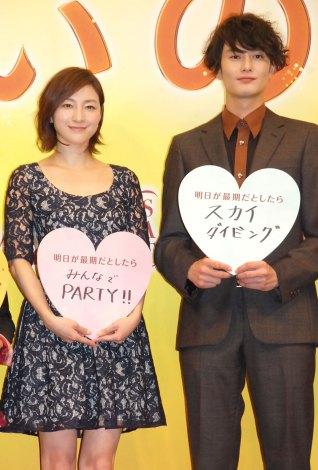 映画『想いのこし』完成披露イベントに出席した(左から)広末涼子、岡田将生 (C)ORICON NewS inc.