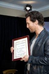 マシュー・マコノヒーが主演を務める映画『インターステラー』の公開日11月22日が「マシュー・マコノ日」に認定