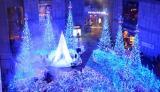 13日よりスタートする、カレッタ汐留のイルミネーション「Caretta Illumination 2014『カノン・ダジュール Canyon d'Azur〜光の渓谷へ〜』」(東京・港区)