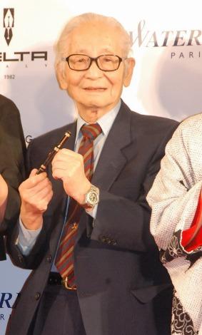 『万年筆ベストコーディネイト賞2014』の表彰式に出席した畑正憲氏 (C)ORICON NewS inc.