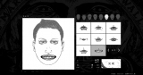 「目」、「鼻」、「口」、「輪郭」などのパーツを選び、オリジナル巨人の顔を作成します(C)諫山創・講談社/「進撃の巨人展」製作委員会