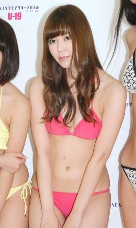 「NEXT グラビアクイーンバトル サードシーズン」お披露目記者会見に出席した金子栞 (C)ORICON NewS inc.