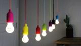 コンセントがいらない電球型LEDランプ『SMILE LAMP(スマイルランプ)』(税抜1200円)