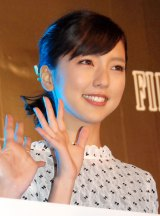 『FINAL FANTASY for SmartPhone 2015 新作発表会』イルミネーション点灯式に出席した真野恵里菜