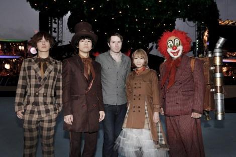 アウル・シティー(中央)とSEKAI NO OWARIのコラボシングル「トーキョー」のMV公開(撮影:上飯坂一)
