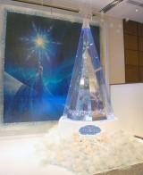 お披露目されたプラチナ製クリスマスツリー「ディズニー プラチナクリスマスツリー 〜アナと雪の女王〜」 (C)ORICON NewS inc.
