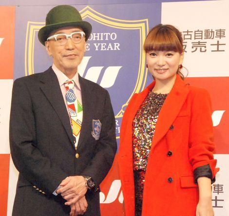 『JU あのひと of the Year 2014』授賞式に出席した(左から)テリー伊藤、保田圭(C)ORICON NewS inc.