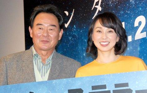 映画『インターステラー』公開直前イベントに出席した(左から)東尾修&東尾理子親子 (C)ORICON NewS inc.