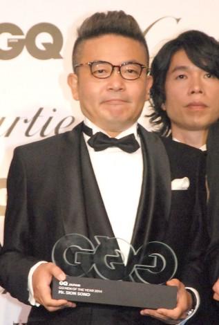 『GQ Men of the Year 2014』授賞記者会見に出席した園子温氏 (C)ORICON NewS inc.