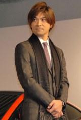 ジャガー『Fタイプ KEI NISHIKORI EDITION』発売記念イベントに出席した許斐剛氏 (C)ORICON NewS inc.