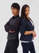 WOWOW『連続ドラマW 悪貨』にW主演する及川光博と黒木メイサ (C)ORICON NewS inc.