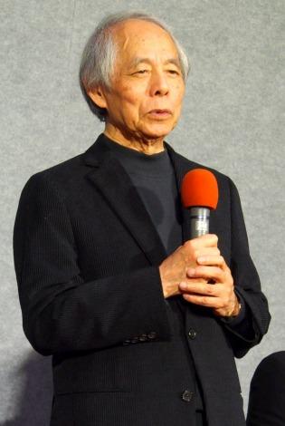 NHKの主演ドラマ『ナイフの行方』の会見に出席した脚本の山田太一氏