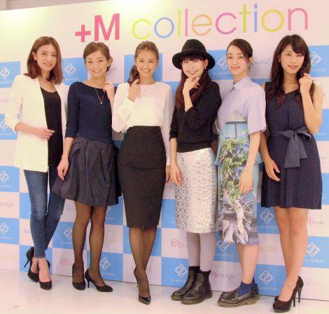 ジュエリープロデュース企画『+M collection』新作発表会に出席した(左から)菅原沙樹、佐藤純、葛岡碧、森貴美子、久松郁実、入山法子 (C)ORICON NewS inc.