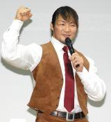 インターネットサービス『新日本プロレスワールド』発表記者会見に出席した棚橋弘至選手 (C)ORICON NewS inc.