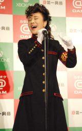 氣志團の衣装で「One Night Carnival」を熱唱した小林 (C)ORICON NewS inc.