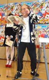 映画『妖怪ウォッチ 誕生の秘密だニャン!』公開アフレコ収録を行った志村けん (C)ORICON NewS inc.