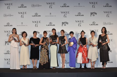 『2014 VOGUE JAPAN Woman of the Year&VOGUE JAPAN Woman of Our Time』受賞者10人がズラリ
