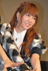 ドキュメンタリー映画『DOCUMENTARY of AKB48 show must go on 少女たちは傷つきながら、夢を見る』初日舞台あいさつに出席した河西智美