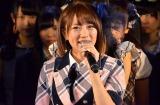 目からは大粒の涙…AKB48卒業を発表した高橋みなみ (C)AKS