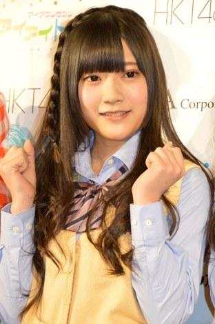 『SKE48&HKT48のアイアイトーク』公開収録イベントの取材会に出席した山田麻莉奈 (C)ORICON NewS inc.