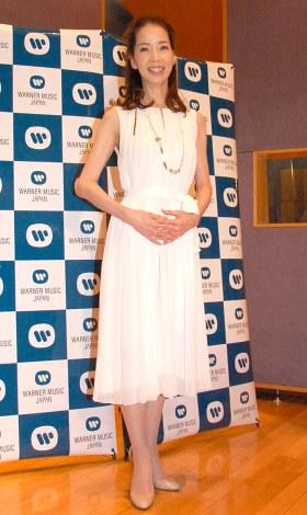アルバム『愛唄歌』発売記念お披露目イベントに出席した増田恵子 (C)ORICON NewS inc.