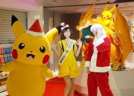 『ポケモンセンターメガトウキョー』のオープニングイベントに出席した(左から)吉木りさ、あばれる君  (C)ORICON NewS inc.