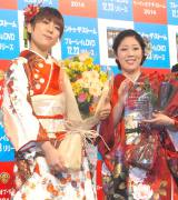 自宅がバレるハプニングを明かした日本エレキテル連合(左から)橋本小雪、中野聡子 (C)ORICON NewS inc.