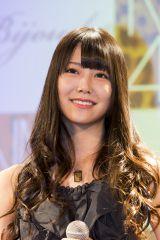 NMB48×Bijoude CM&コラボレーションジュエリー発表記者会見に出席したNMB48の白間美瑠