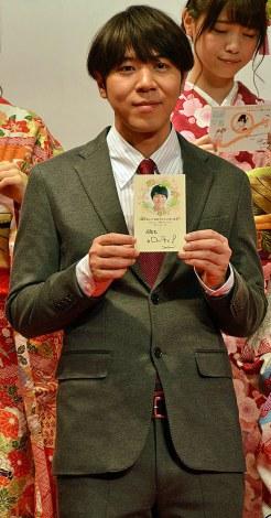 『2015年用年賀状 引受開始セレモニー』に出席したロッチ・コカドケンタロウ