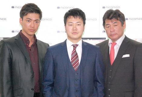 映画『表と裏』記者発表会に出席した(左から)大東俊介、遠藤要、赤井英和 (C)ORICON NewS inc.