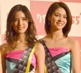 次世代トークアプリ『755』CM発表会に出席した(左から)藤井萩花、楓 (C)ORICON NewS inc.