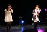 かつてSKE48で活動をともにした加藤智子(左)と出口陽(右)が共演を果たした(C)De-View
